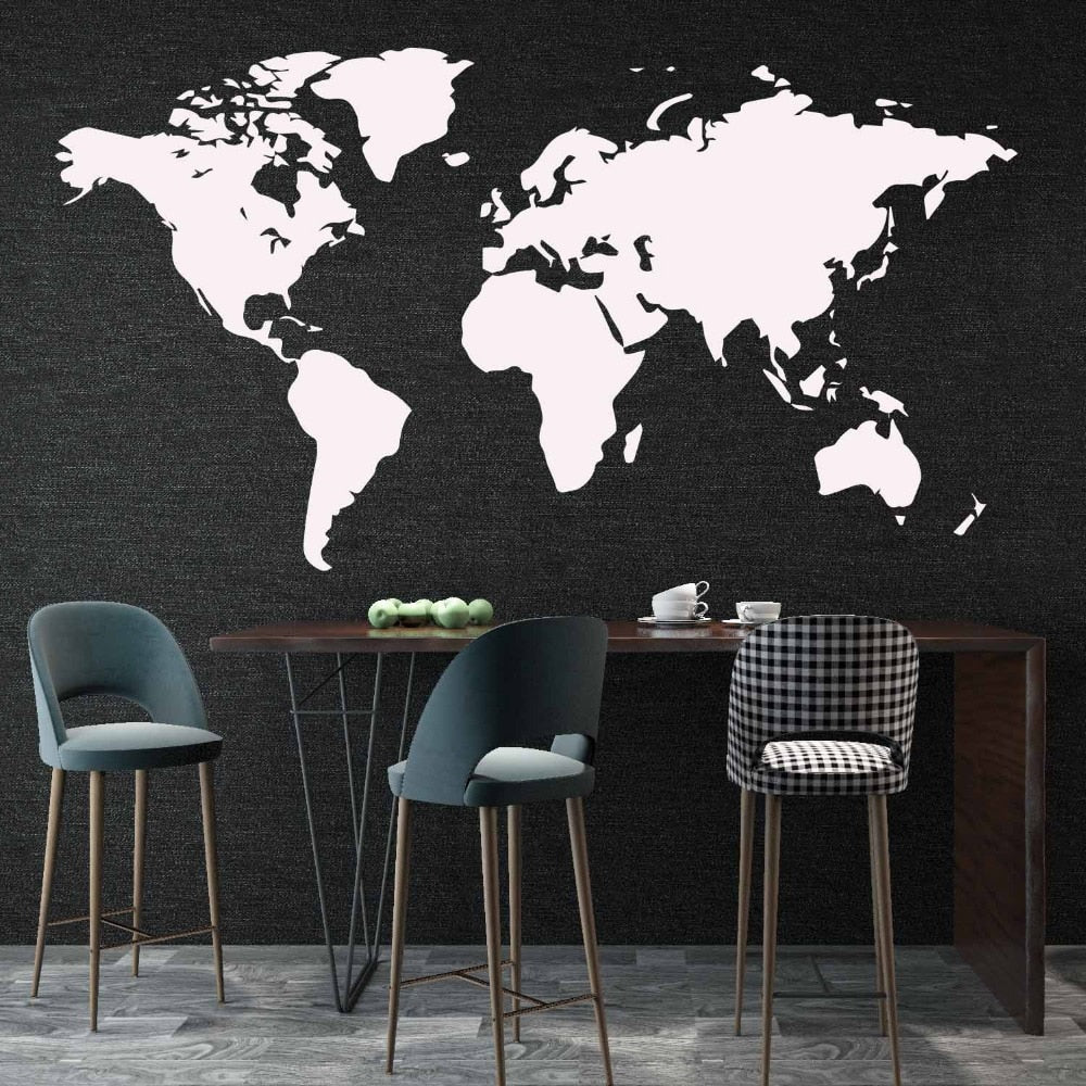Sticker Mural - Carte du monde - stickers - muralconcept