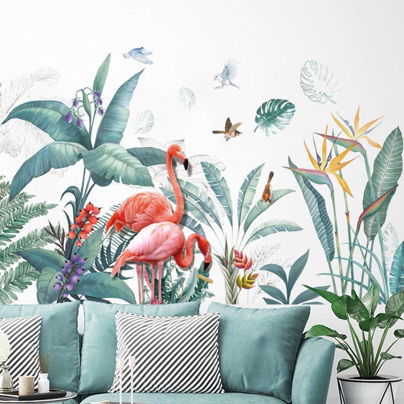 Sticker Mural - Tropical Flamant - stickers - muralconcept