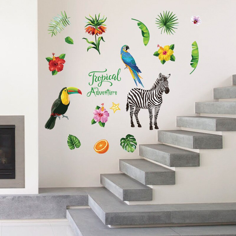 Sticker Mural - Tropical Animaux - stickers - muralconcept