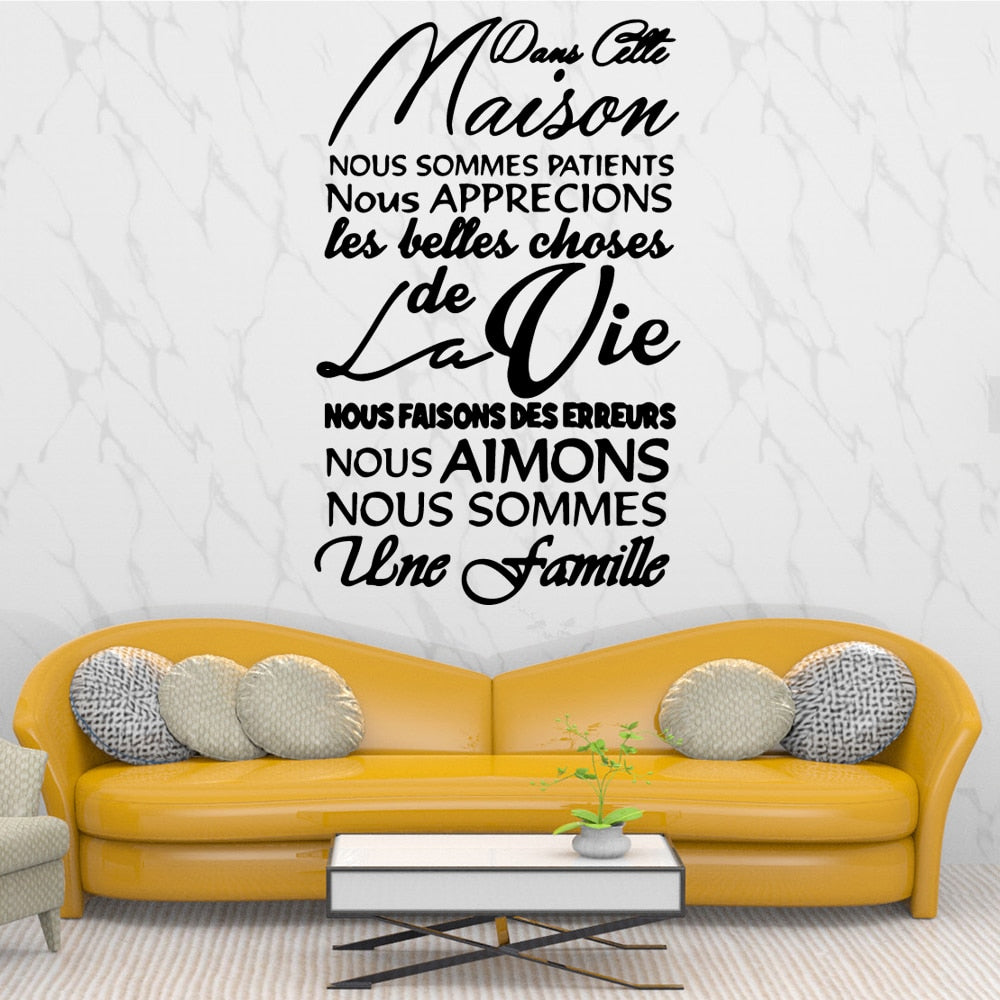 Sitcker Mural - Citation Amour - stickers - muralconcept