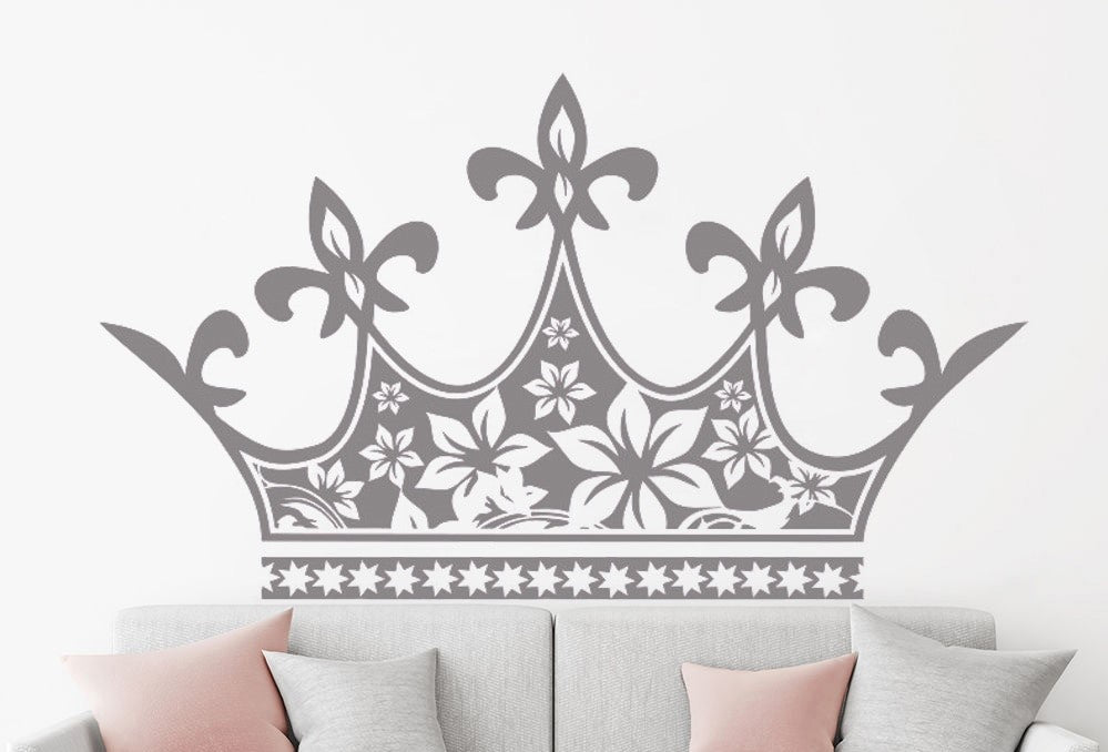 Sticker Mural - Couronne royale tête de lit - stickers - muralconcept
