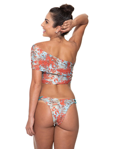 Calcinha One Shoulder Estampa Maritima
