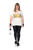 Camiseta Merci Plus Size Off White