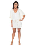 Caftan Liso Off White