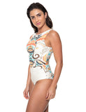 Body Regata Estampado Off White