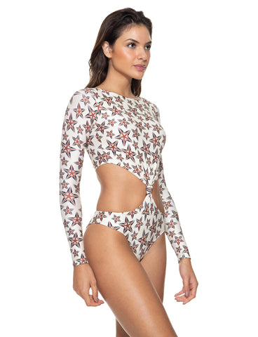 Maiô Body Engana Mamãe Estampado Off White