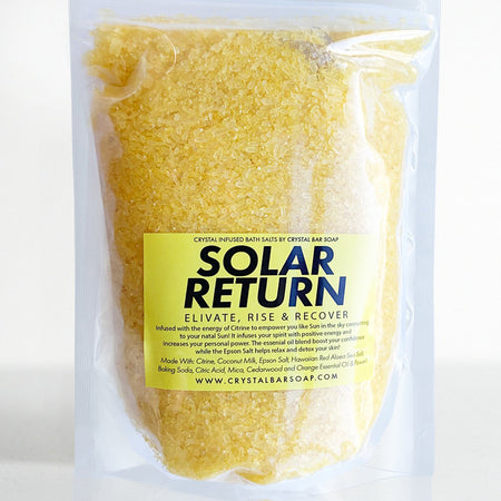Solar Return Bath Salt with Citrine by Crystal Bar Soap