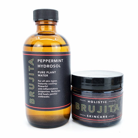 Conviction Facial Mask with Peppermint Hydrosol Set by Brujita Skincare
