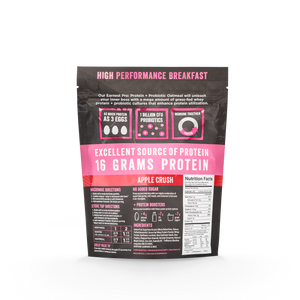 Apple Crush Protein & Probiotic Oatmeal Bags