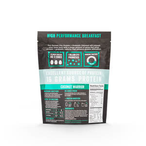 Coconut Warrior Protein & Probiotic Oatmeal Bags