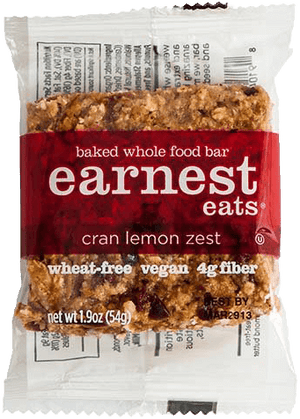 Cran Lemon Zest Almond Butter Baked Bars