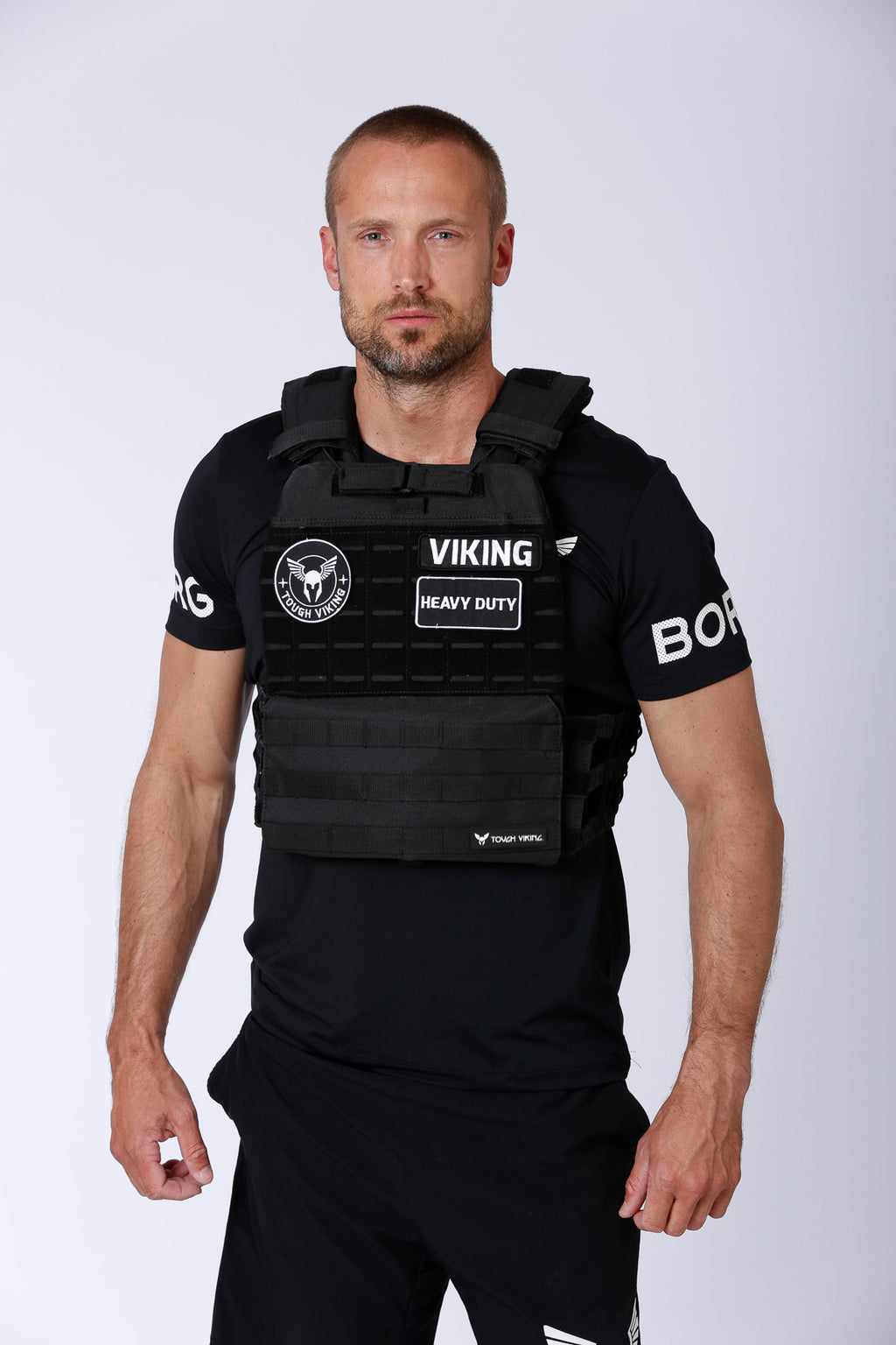 Tough Viking Heavy Duty Weight Vest - Black