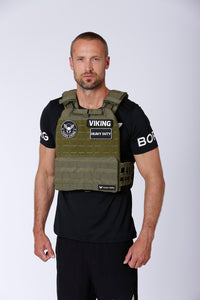 Tough Viking Heavy Duty Weight Vest - Green