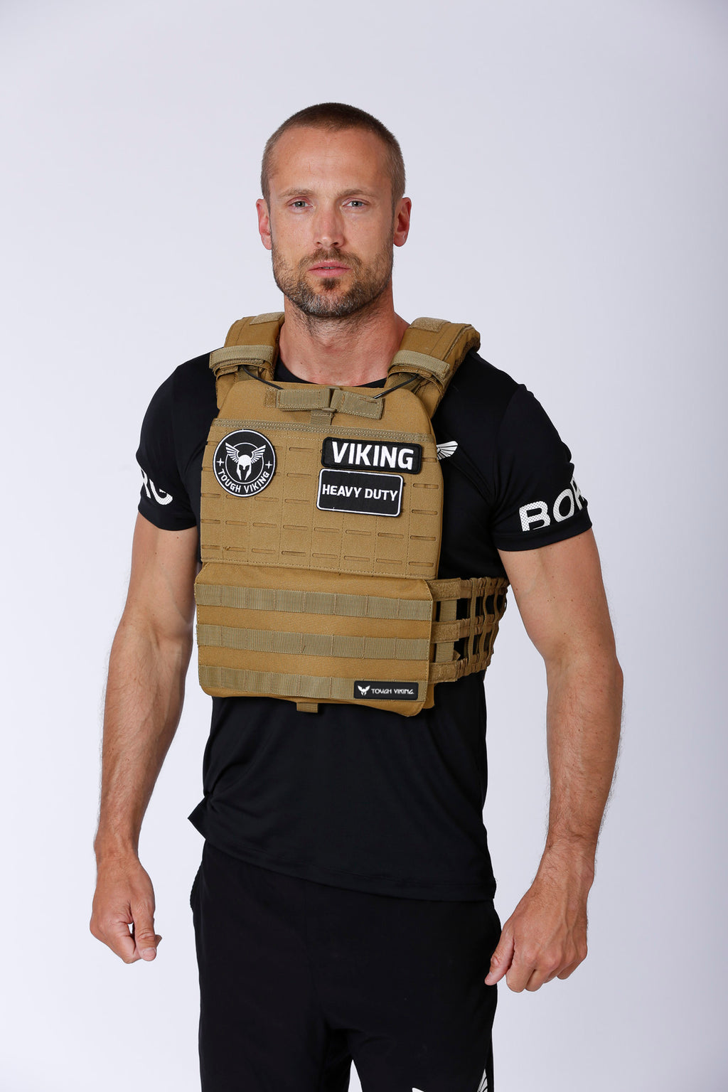Tough Viking Heavy Duty Weight Vest - Sand