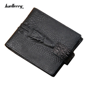 Cool Faux Alligator Wallet with Clasp For Men