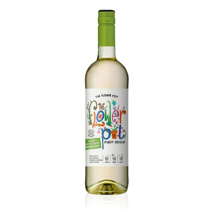 THE FLOWER POT® Pinot Grigio Terre Siciliane IGP 0,75 L (Einzelflasche)