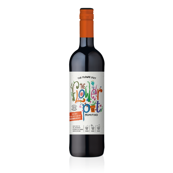 THE FLOWER POT® Primitivo Puglia IGP 0,75 L (Einzelflasche)