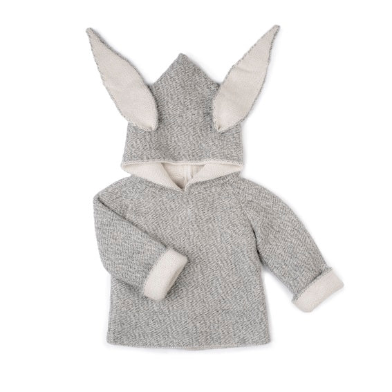Oeuf Reversible Toddler Bunny Hoodie - 18 months
