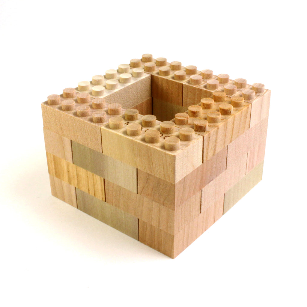 24 Piece Wooden Lego Set
