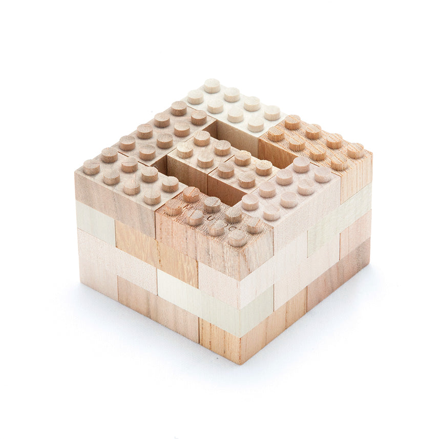34 Piece Wooden Lego Set