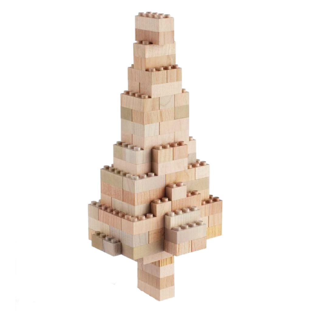 48 Piece Wooden Lego Set