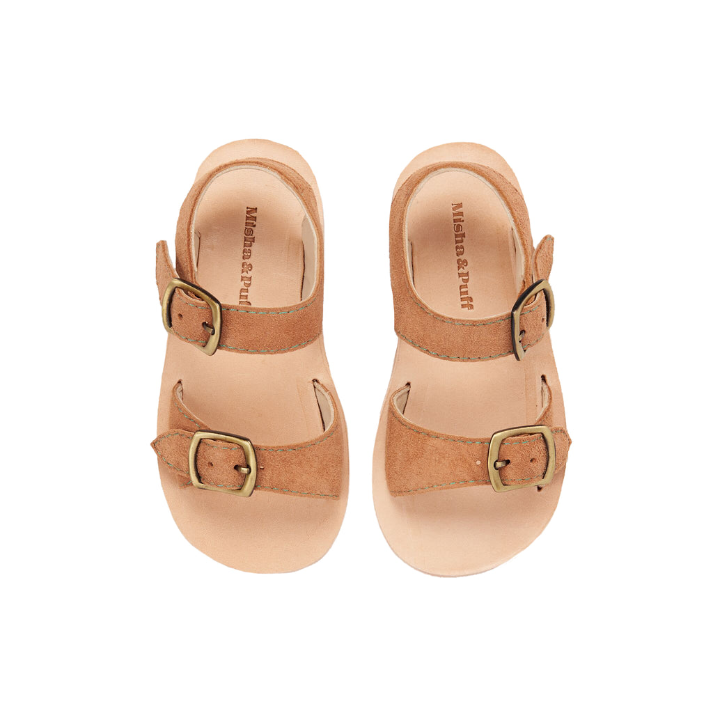 Misha and Puff Carmel Leather Sandals