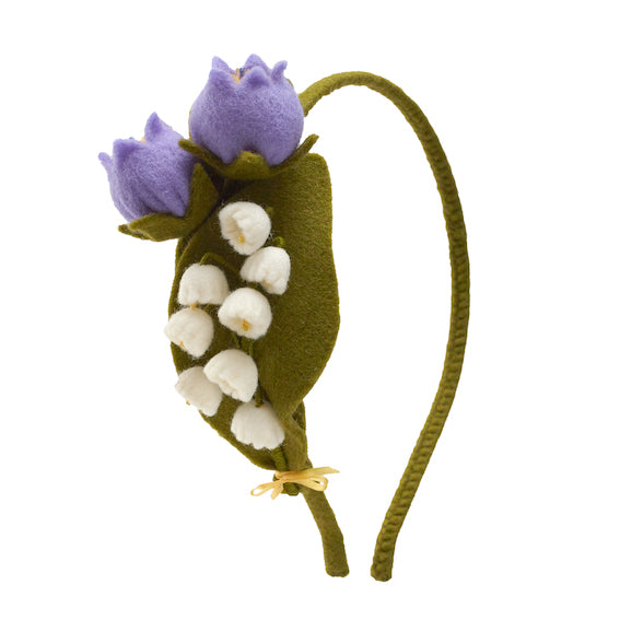Felt Lily of the Valley Headband