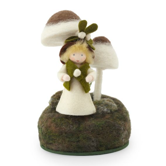 Felt Toadstool with Forest Fairy