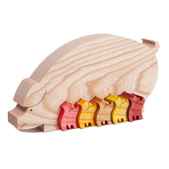 Wooden Pig Puzzle