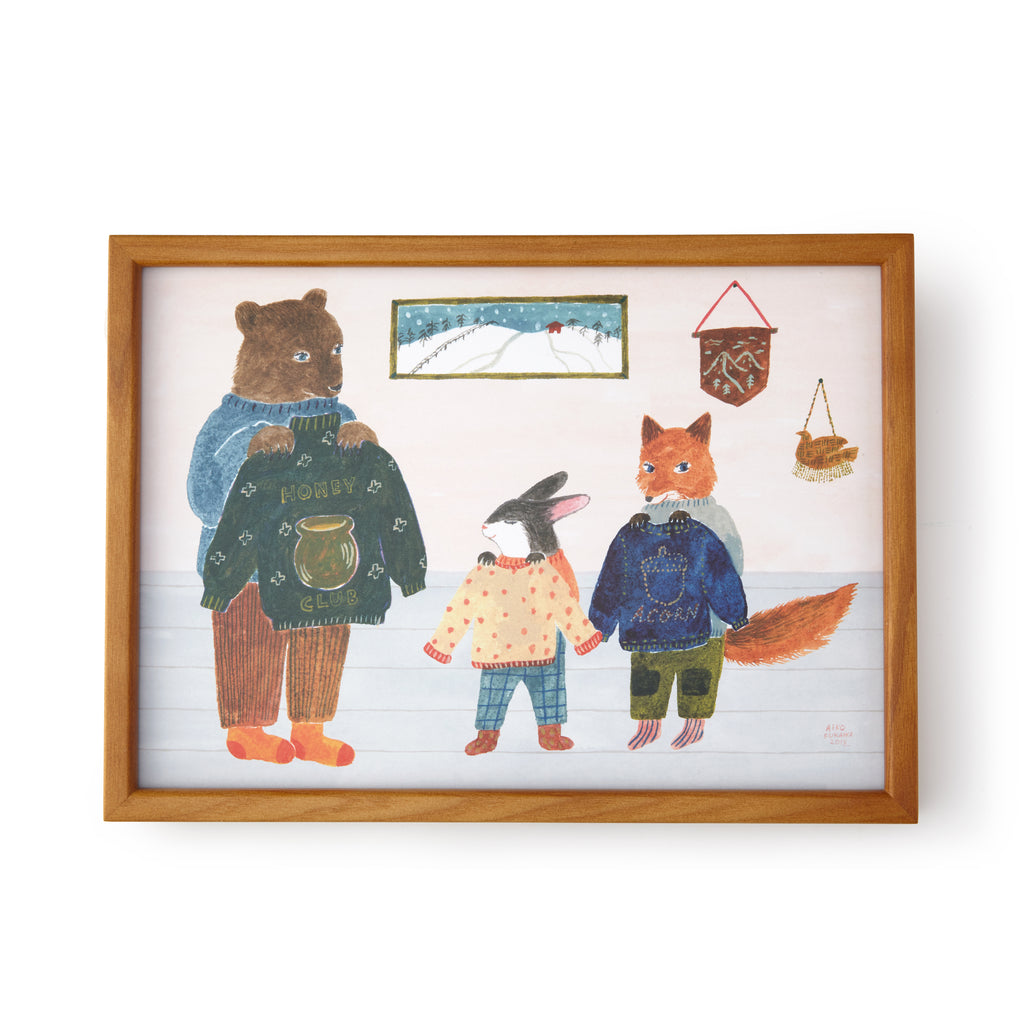 Aiko Fukawa Winter Sweaters Framed Print