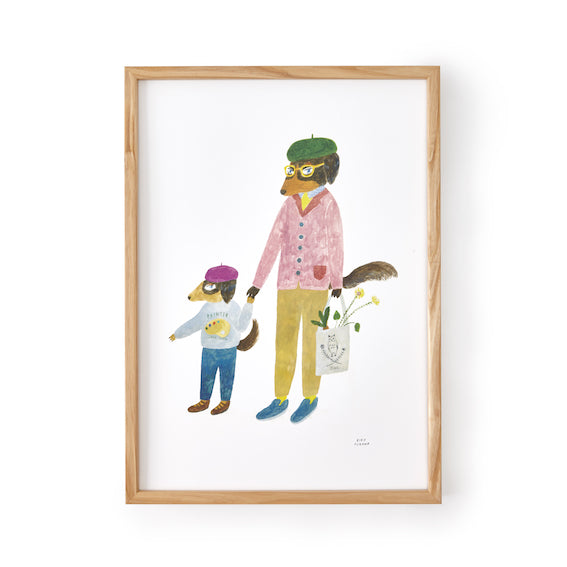 Aiko Fukawa Framed Father and Son Print