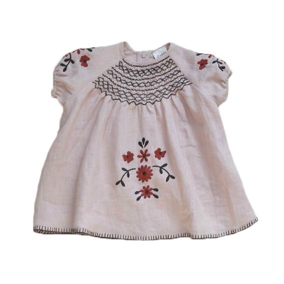 Apolina Sandstone Maren Baby Dress  - 18-24 months
