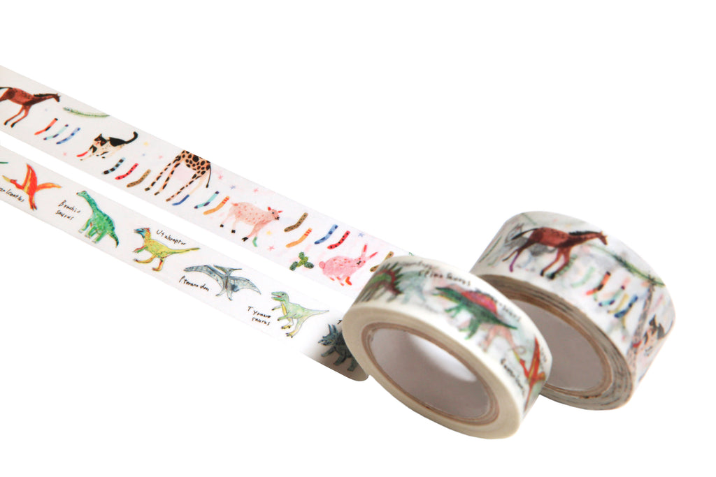 Japanese Masking Tape Set · Animal and Dinosaur Set