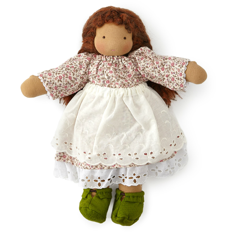 "16"" Auburn Haired Waldorf Doll"