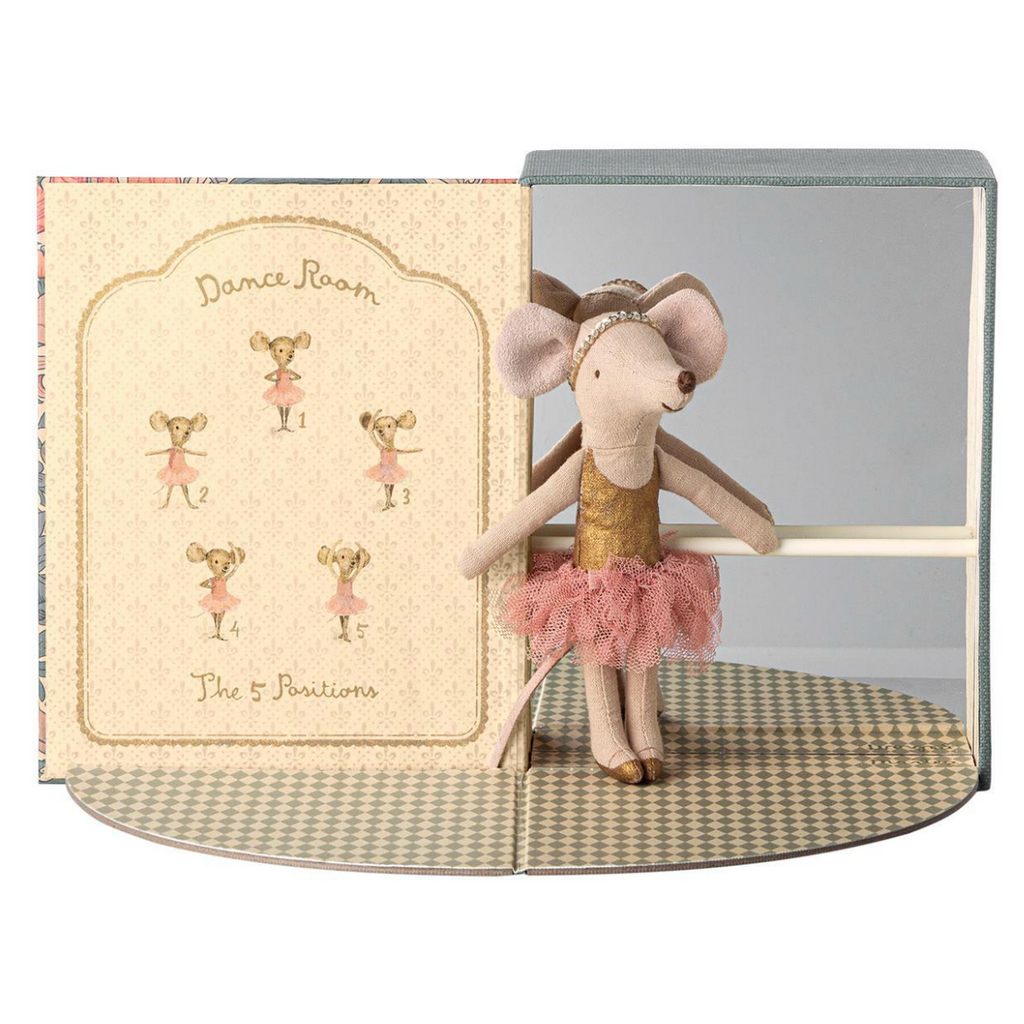 Maileg Dance Room with Big Sister Ballerina Mouse