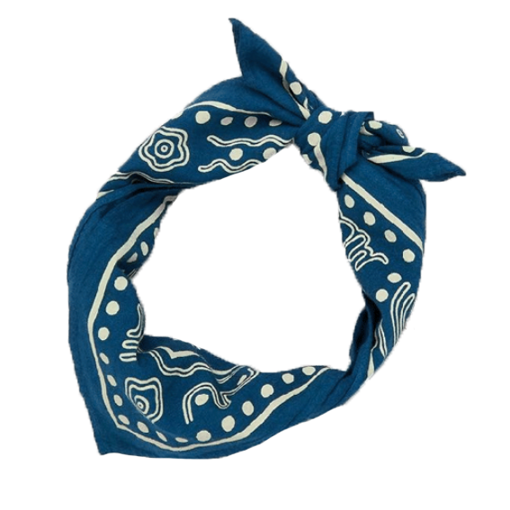 Misha and Puff Cobalt Bandana