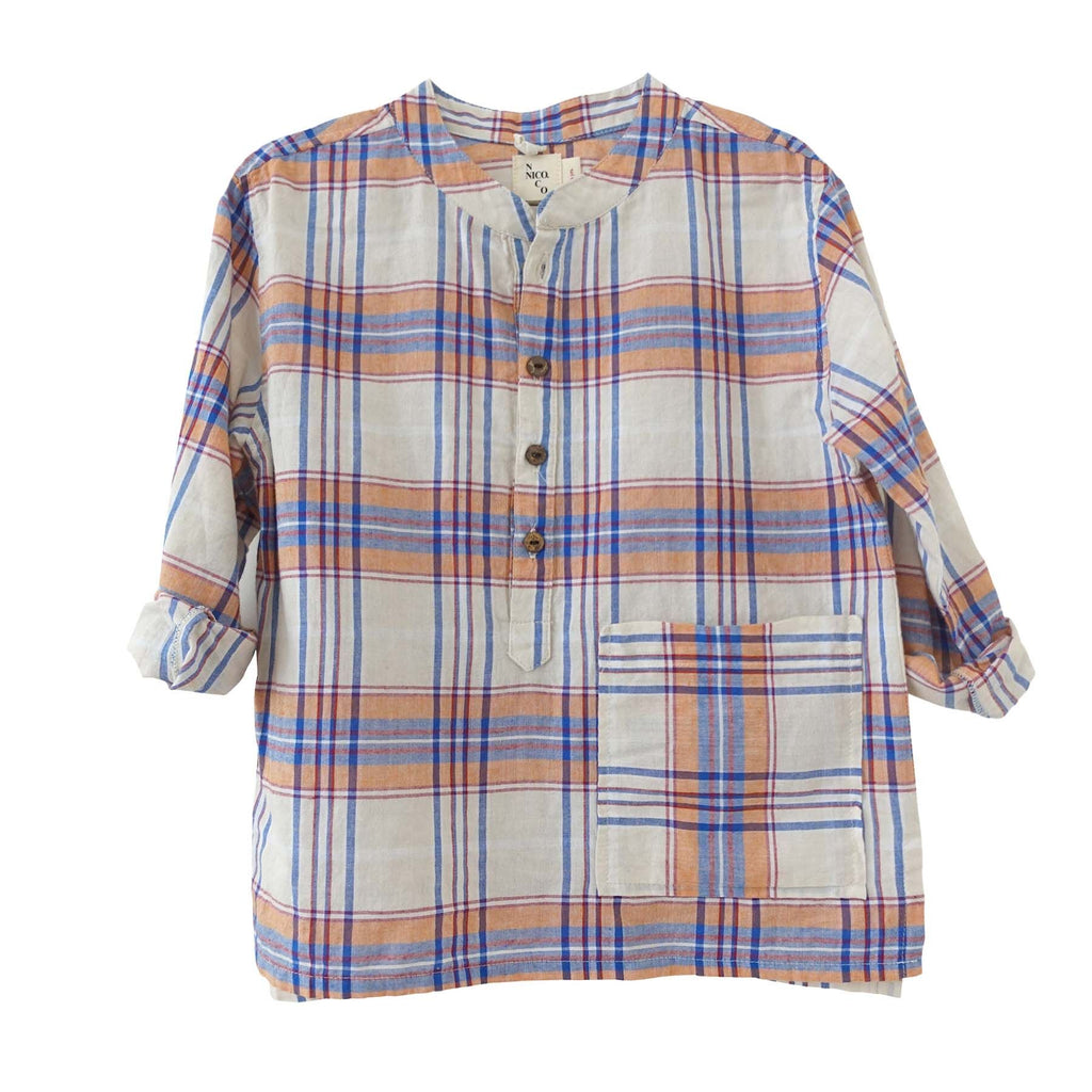 Nico Nico Barrett Plaid Henley