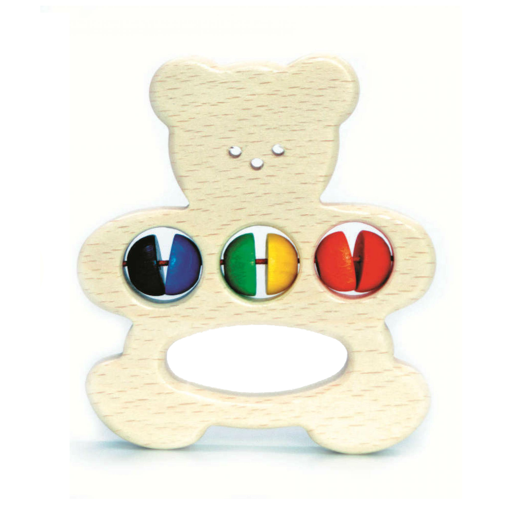Wooden Bear Clutching Toy
