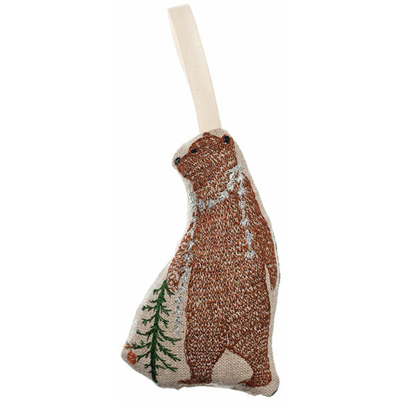 Coral and Tusk Bear with Tinsel Ornament