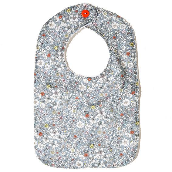 Acorn Liberty Print Bib · Light Blue Floral