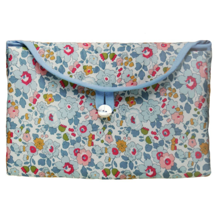 Blue Floral Fold and Go Changing Pad