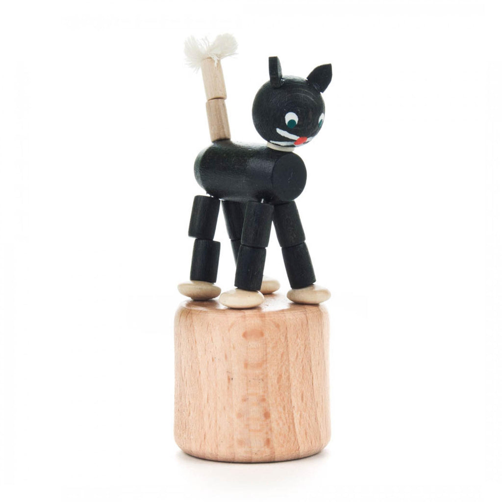 Wooden Black Cat Pop Up Toy