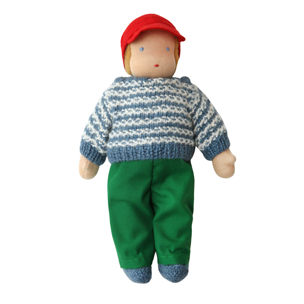 Waldorf Doll  · White Striped Sweater Boy