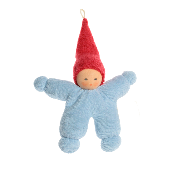 Organic Blue Baby with Red Cap