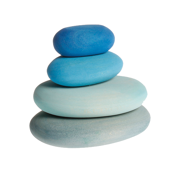 Blue Stacking Pebbles Set