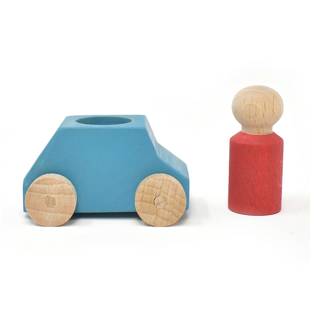 Lubulona Turquoise Car with Red Figurine