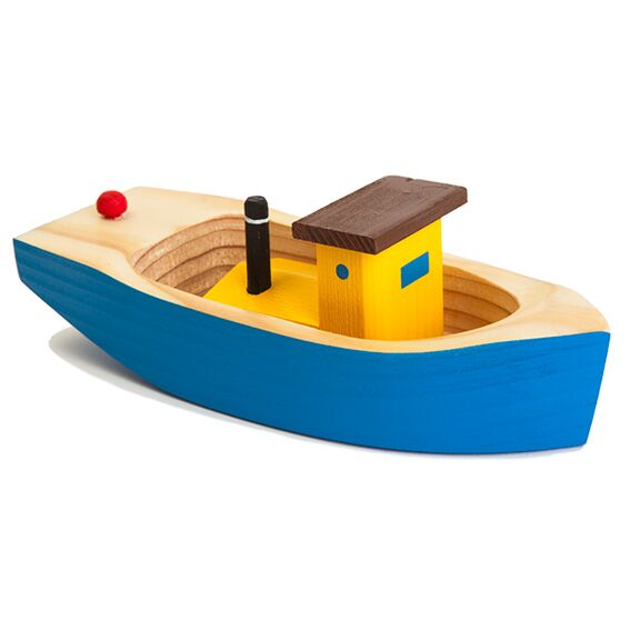 Wooden Blue Tugboat