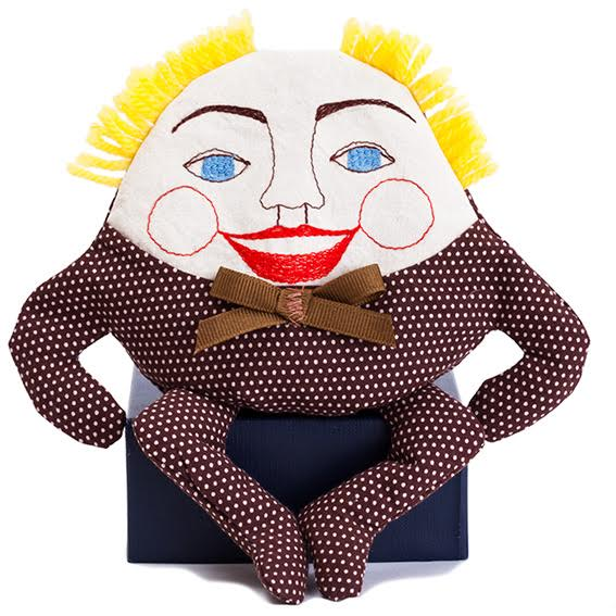 Humpty Dumpty Doll · Brown Polka Dot