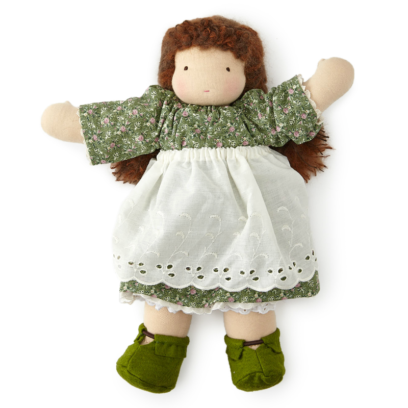 "16"" Brown Haired Waldorf Doll"