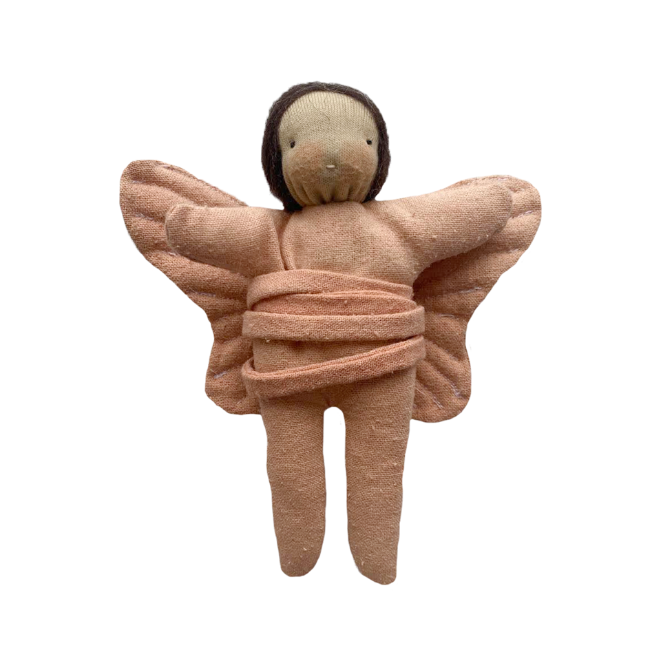 Full Flower Moon Waldorf Butterfly Doll · Brown